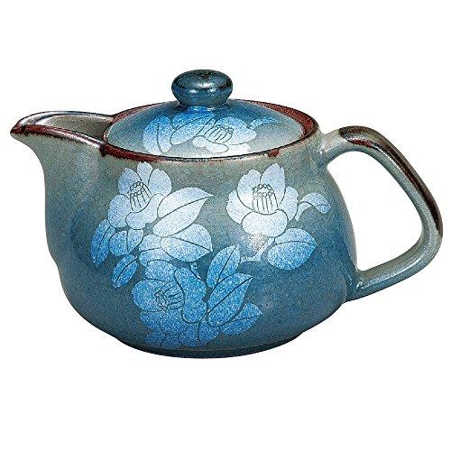 Kutani Yakiware Japanese Teapot Silver Leaf with tea strainer