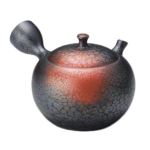 Tokoname Yaki Tenmoku 270cc 43inch Japanese Teapot Black Porcelain