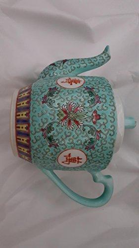 Vintage Teal chinese teapot