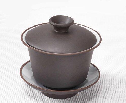 Moyishi Large Size Purple Gaiwan Tureen Sancai Cup Kungfu Tea Set Saucer and Lid