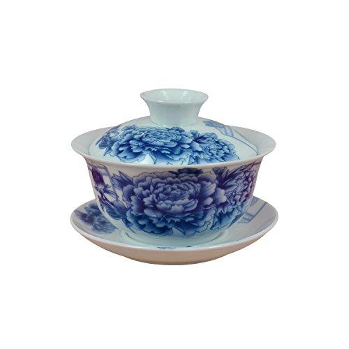 Peony Chinese Porcelain Gaiwan Gai Wan Teacup Teacups 150ml