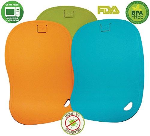 Enviroboard - 100% Germ Free - Sterilization - Antimicrobial Cutting Board - 3 Set