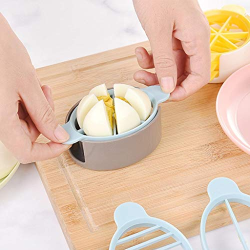 Barlingrock Metal Egg Slicer Cutter 3in1 Cooking Tools Cut Multifunction Egg Slicer Cutter Mold Flower Edges Tools Cutter Mushroom Slicer Cutter Cooking Tools