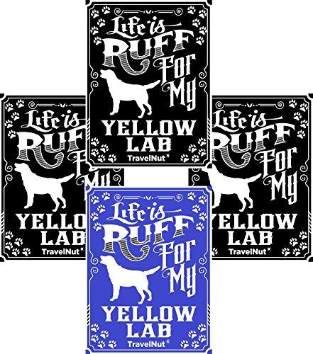 4 Pack Top Yellow Labrador Dog Lover Gift Set Magnet Sticker Easter Basket Filler Idea