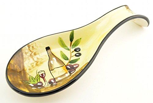 Dlusso Tuscany Wine Cellar Ceramic Spoon Rest