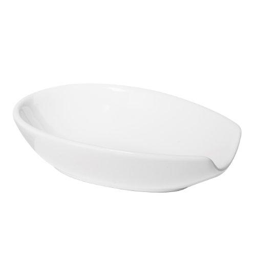 Oggi 54291 Ceramic Spoon Rest White