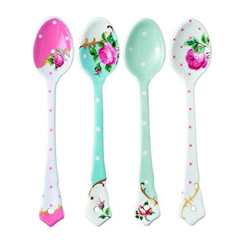 Royal Albert Set of 4 Mixed Ceramic Spoons