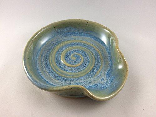 Spoon Rest Ceramic Spoon Rest in Opal Blue