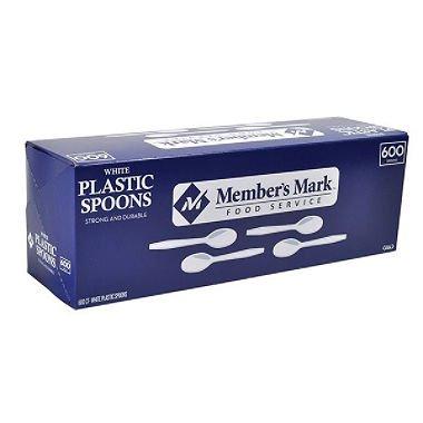 Members Mark White Plastic Spoons 600 ct AS