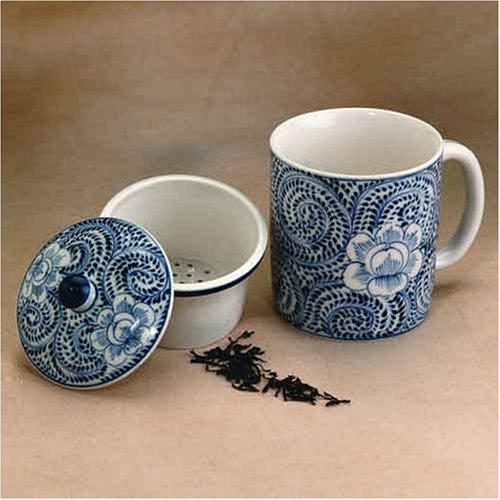 Ceramic Tea Mug with Strainer - Tea Infuser Cup