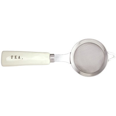 Rae Dunn Magenta Stoneware Wire Mesh Tea Strainer