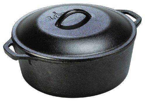 Lodge L10dol3 Pre-seasoned Dutch Oven With Dual Handles, 7-quart