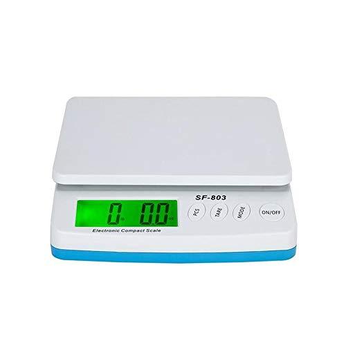 30kg1g High Precision LCD Digital Postal Shipping Scale White Plastic