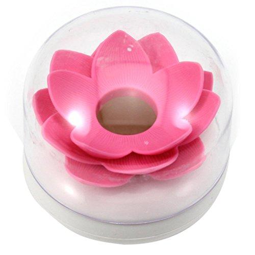 Mwfus Lotus Flower Cotton Bud Holder Toothpick Case Cotton Swab Box Cup Home Decor Pink