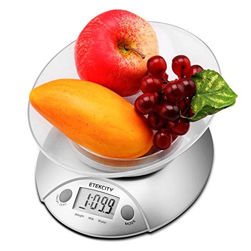 Etekcity 11lb/5kg Digital Kitchen Food Scale, Volume Measurement Supported