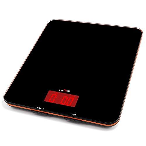 Famili Fm201bob Digital Kitchen Food Scale 11lbs/5kg, 0.1oz, Electronic Kitchen Weight Scale, Black