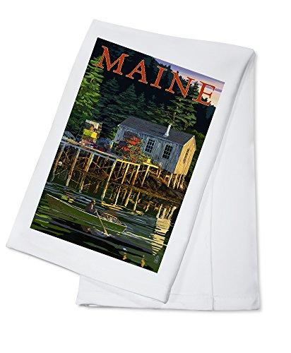 Maine - Lobster Shack 100 Cotton Kitchen Towel