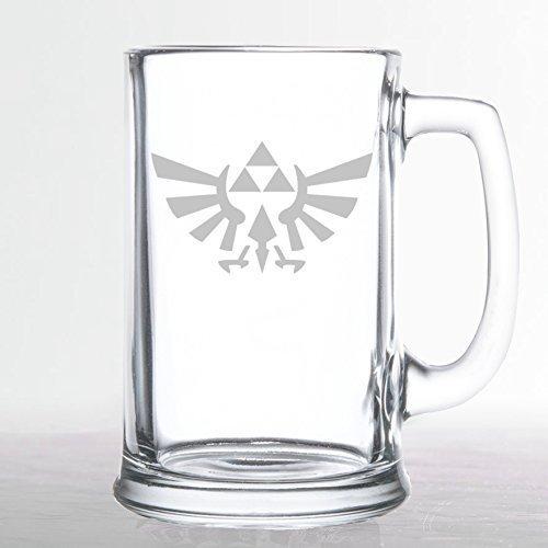 The Legend of Zelda - Triforce Hylian Crest - Etched Beer Mug