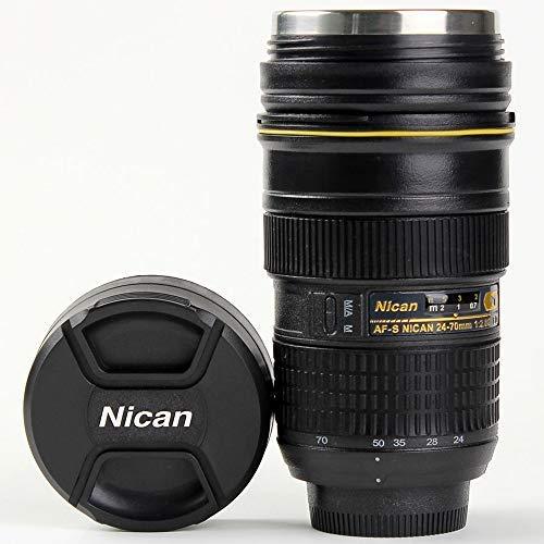 Camera Lens Coffee Mug  Bonus Cute Spoon Photo Coffee Cup Stainless Steel Thermos For Photographer Gift 16OZ TMANGO Nikon 24-70mm