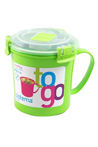 Sistema 221-Ounce Soup Mug To Go Green 1-Pack
