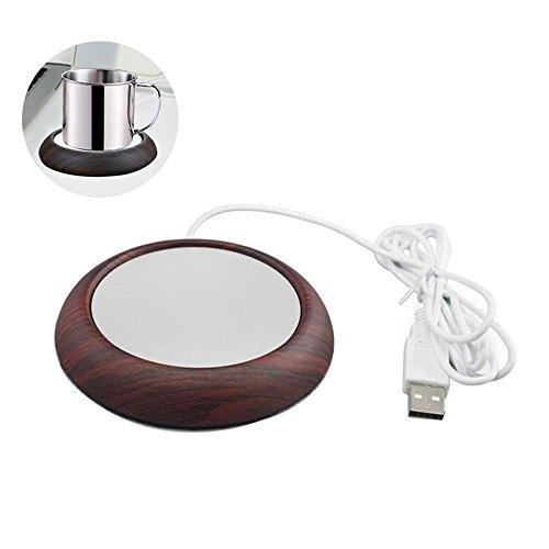 Coffee Mug Warmer Pawaca Cup Warmer USB Milk Tea Beverage Heating Coaster Electric Heating Aluminum Plate for Office Home