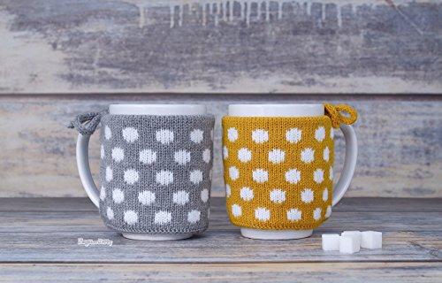 Coffee mug warmer Set of 2 Cozy cover Coffee cup sleeve Mug sweater Housewarming gift Tea cosies Party favor Kitchen decor Cozy wrap art