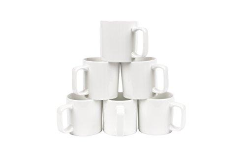 Oxford Gourmet Large Mugs Set of 6 White