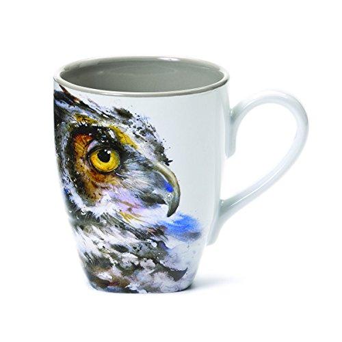 Demdaco 3005050299 Carvers Owl Mug Multicolored