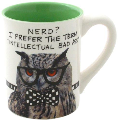 "Our Name is Mud ""Nerd Owl"" Stoneware Mug 16 oz"