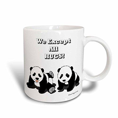 3dRose Panda Hugs Mug 11-Ounce