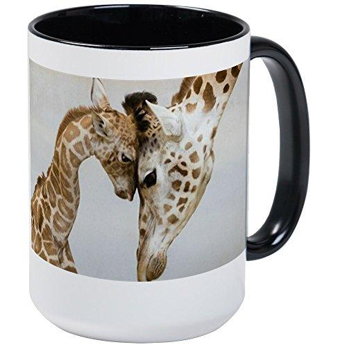 CafePress - Giraffes Hug Mugs - Coffee Mug Large 15 oz White Coffee Cup