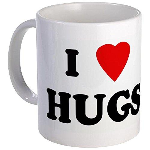 CafePress - I Love HUGS Mug - Unique Coffee Mug Coffee Cup