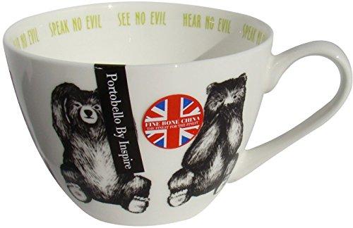 Portobello by Inspire Three Wise Bears Hug Mug