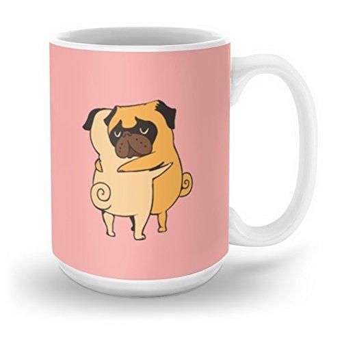 Society6 Pug Hugs Mug 15 oz