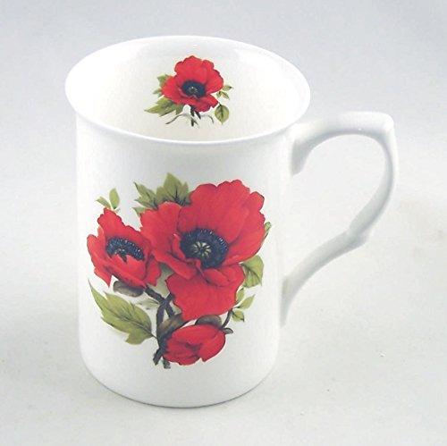 Autumn Poppy Chintz - Fine English Bone China Mug - England