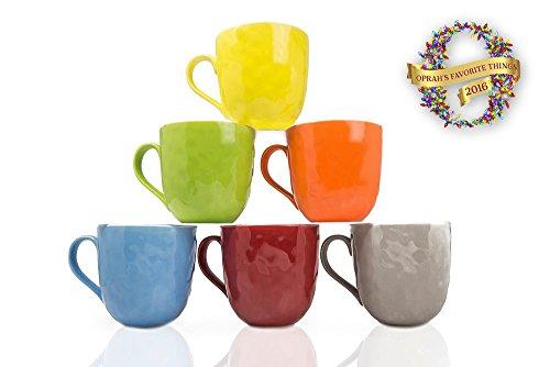 Yedi Houseware New Bone China Mugs Set of 6