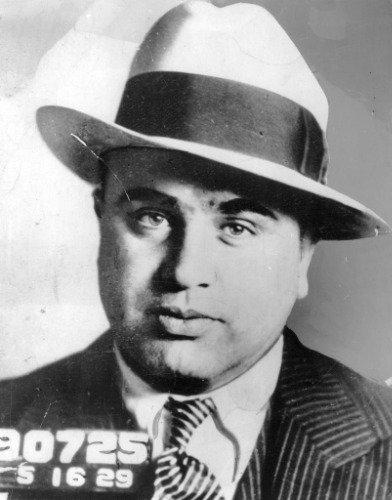 AL CAPONE MUG SHOT PORTRAIT GLOSSY POSTER PICTURE BANNER PHOTO mugshot mafia
