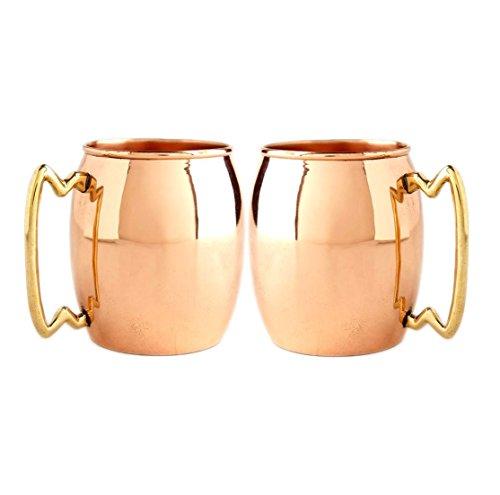 STREET CRAFT Set of 2 100 Authentic Copper Moscow Mule Smooth Mug Size 2 Oz Shots Mug