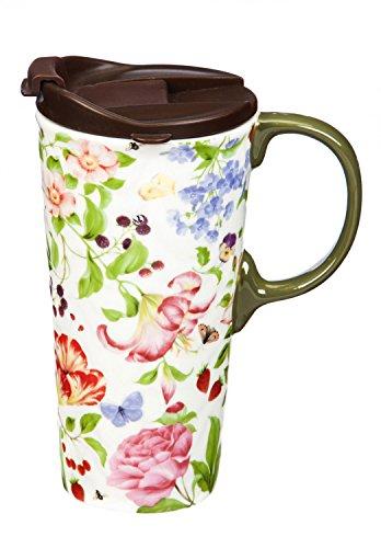 Cypress Home Garden Memories Ceramic Travel Coffee Mug 17 ounces