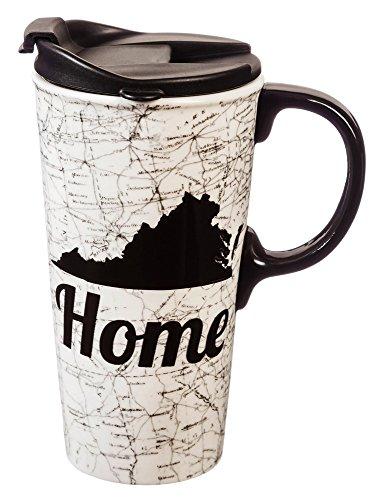 Cypress Home Virginia Ceramic Travel Coffee Mug 17 ounces