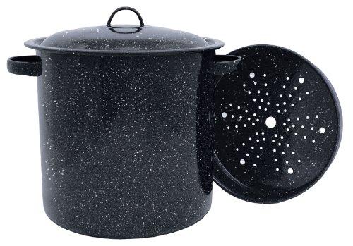 Granite Ware Tamale Pot with Steamer Insert 155-Quart
