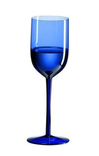 Ravenscroft Crystal Cobalt Blue Long Stem Water Glass Set of 4