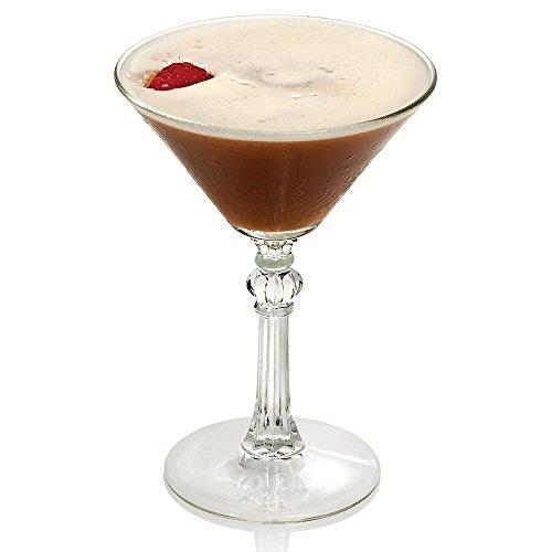 Libbey 8882 Art Deco 45 oz Martini Glass Set of 6 with Bonus FDL Picks