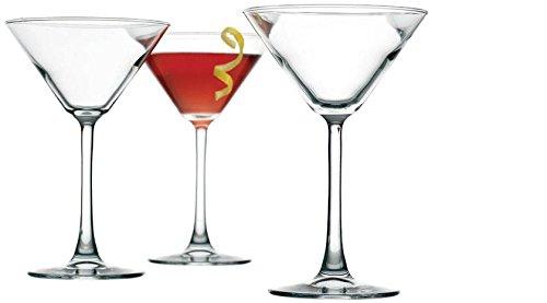 Palais Contemporary Cosmopolitan Cocktail - Martini Glasses Set of Four 4 Clear 10 Oz