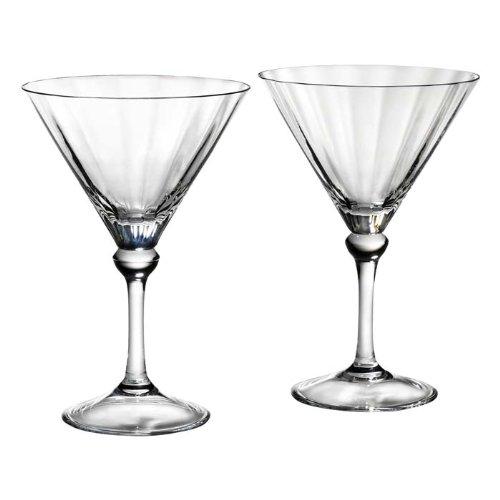 Reed Barton 2 Piece Heritage Austin Crystal Martini Glass Set