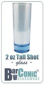 BarConic 2 ounce Tall Light Blue Shot Glass Case of 144