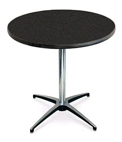 McCourt 72001LGN Laminate Pedestal Table 36 Diameter x 30 H x 28 Base Pedestal Graphite Nebula