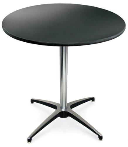 McCourt 72010LB Laminate Pedestal Table 30 Diameter x 42 H x 24 Base Pedestal Black