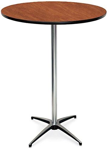 McCourt 72012HLWC Laminate Pedestal Table 24 Diameter x 42 H x 24 Base Wild Cherry