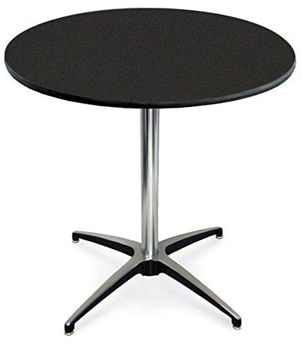 McCourt 72012LGN Laminate Pedestal Table 24 Diameter x 30 H x 24 Base Graphite Nebula